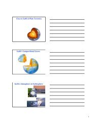 Class 6: Earth & Plate Tectonics Earth's Compositional Layers ...