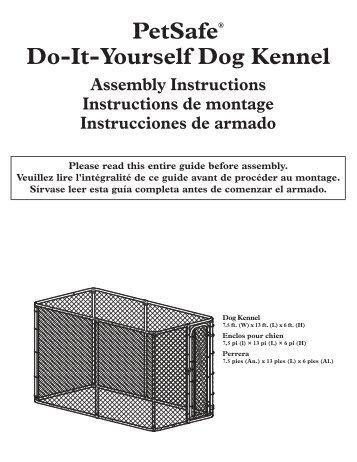 PetSafe® Do-It-Yourself Dog Kennel Assembly ... - Bark Control