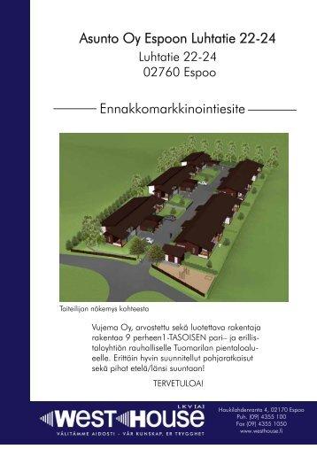 Asunto Oy Espoon Luhtatie 22-24 ... - Westhouse