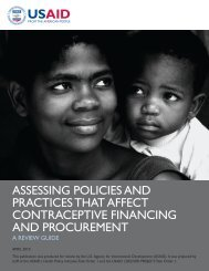 Assessing Policies and Practices that Affect Contraceptive Financing ...