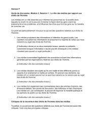 Annexe F Guide de discussion, Module 2, Session 1 - Speak Up ...