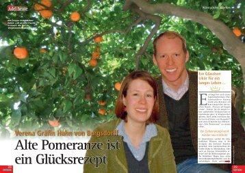 Adel heute September 2013 - Alte Pomeranze