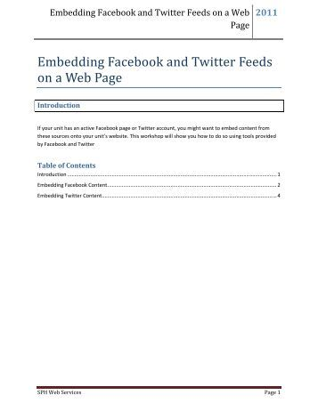 Embedding Facebook and Twitter Feeds on a Web Page