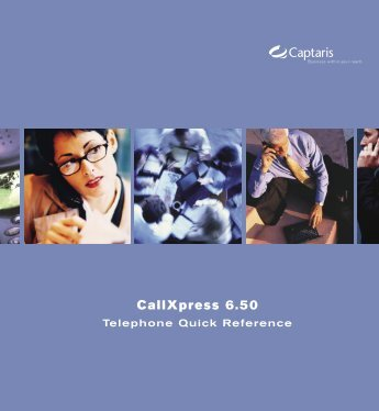 CallXpress 6.50 Telephone Quick Reference - Infonet
