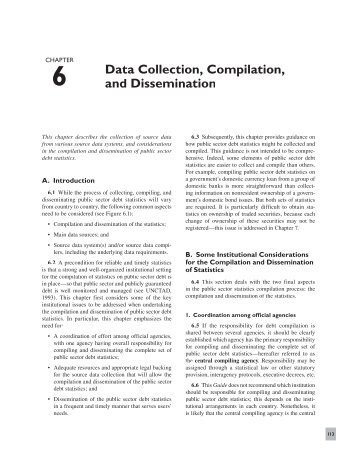 Data Collection, Compilation, and Dissemination - Task Force on ...