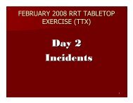 Day 2 Incidents
