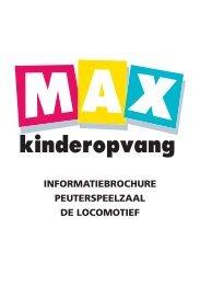 informatiebrochure peuterspeelzaal de locomotief - Max Kinderopvang