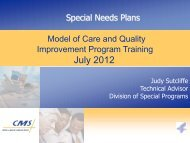 Model of Care and Quality Improvement Program Training