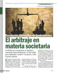 el arbitraje en materia societaria - Revista Perspectiva