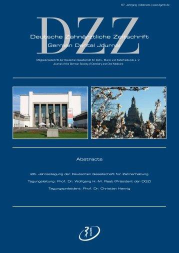 Deutsche Zahnärztliche Zeitschrift - Online DZZ