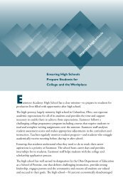 Ensuring High Schools Prepare Students for College and the ...