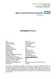 RETIREMENT POLICY - West Hertfordshire Hospitals NHS Trust