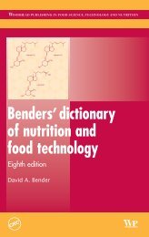 Benders'dictionary of nutrition and food technology