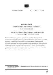 DECLARACIÓN DE LOS MIEMBROS DEL CONSEJO ... - Europa