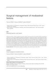 207-212 surgical/mediastinal - Tüberküloz ve Toraks