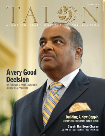 The Talon Vol. 3 Issue 1 - Spring 2008 - Coppin State University ...
