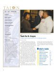 The Talon Vol. 3 Issue 1 - Spring 2008 - Coppin State University ... - Page 2