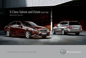E-Class Saloon and Estate price list