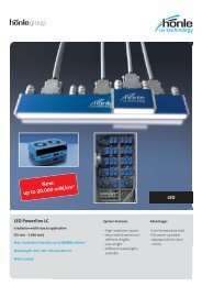 LED Powerline LC LED - Dr. Hönle AG