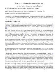 CIRCULAR INTERNA 5 DE 2005(30 MARZO 2005)