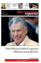 Kirk Kerkorian - Armenian Reporter