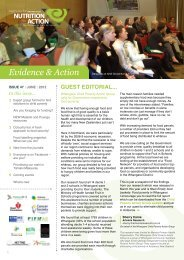 Quarterly newsletter: June 2012 - Agencies for Nutrition Action