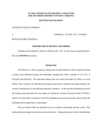 R:\Storage\AE\Chapman, Ronald (C)\Order denying motion to ...