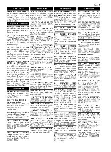 9/3/09 classified ads - Battle Creek Shopper News