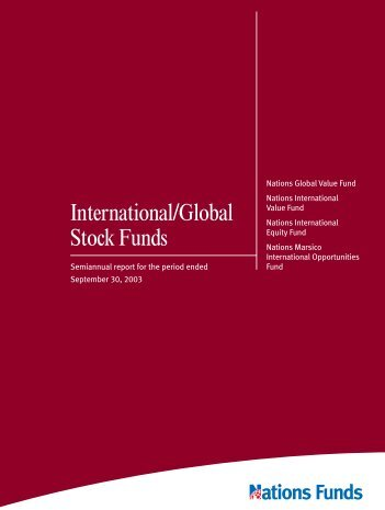 International/Global Stock Funds