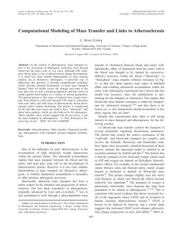 Computational Modeling of Mass Transfer and ... - Yale University