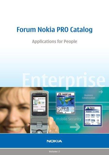 Forum Nokia PRO Catalog - Volume 2