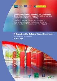 International Qualifications Frameworks Conference 15 April 2010