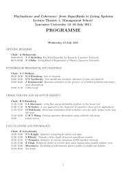 PDF of detailed Workshop Programme - Physics at Lancaster ...