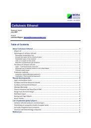 Cellulosic Ethanol - Mora Associates