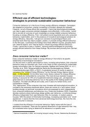 strategies to promote sustainable consumer behaviour - Sozial ...