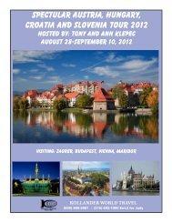 spectular austria, hungary, croatia and slovenia tour 2012