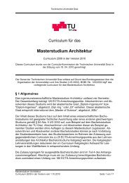 Curriculum für das Masterstudium Architektur - mibla.TUGraz.at