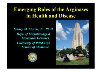 Molecular Genetics University of Pittsburgh School of Medicine