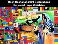Rosh Hashanah 2009 Declarations Renewed Hope ... - Rhm-Net.org