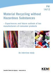 Material Recycling without Hazardous Substances