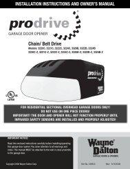 advertencia - Wayne-Dalton Partner Connect