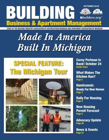 October 2012 BBAM Magazine - HBA of Southeastern Michigan