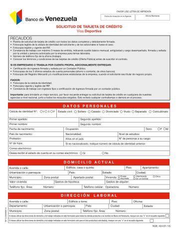 L banco solicitud de carta de cr dito banco econ mico for Solicitud de chequera banco venezuela