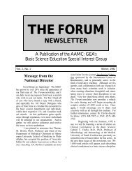 the forum newsletter - IAMSE
