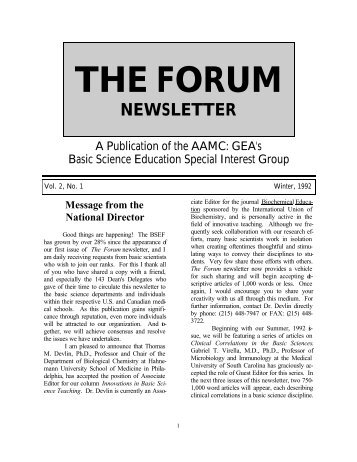 the forum newsletter - IAMSE