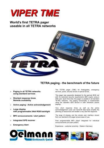 Oelmann Tetra Pager PI 260 - Sigma Wireless