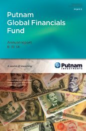 Global Financials Fund Annual Report - Putnam Investments
