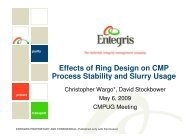 Effects of Ring Design on CMP Process Stability and Slurry Usage