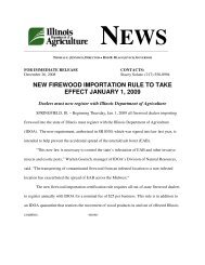 new firewood importation rule to take effect january 1, 2009 - Illinois ...