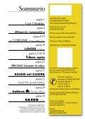 Scarica il Notiziario: Uscita Novembre 2005 - Comune di Sasso ... - Page 2